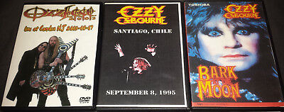 Ozzy Osbourne: 3 DVD's Chile 1995/New Jersey 2003/Bark At The Moon 1983