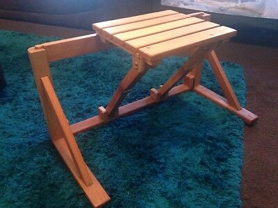 Wooden fold down Disabled shower  chair /seat vintage style