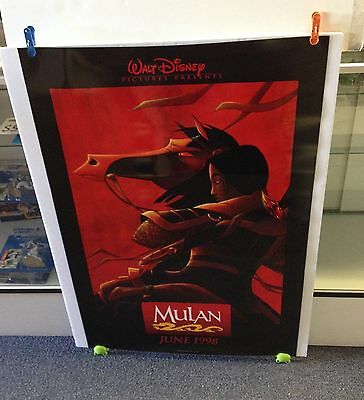MULAN Movie Poster 27x40 One Sheet **Rare 1998 Double Sided