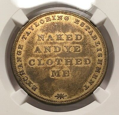 1820s A.W. Hardie Draper & Taylor NY 295A R8 NGC AU-55 - Naked and Ye Clothed Me