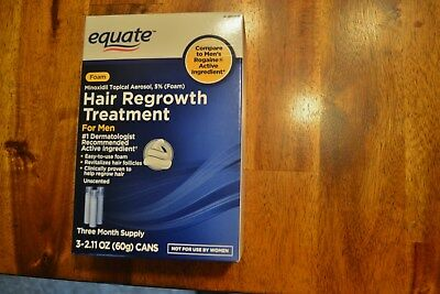 NEW Sealed Box 3 month Supply Equate Hair Regrowth Treatment 4 Men Expires 5/19