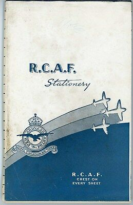 Ww2 Royal Canadian Air Force Rcaf Crested Writing Stationary Booklet 37 Pages
