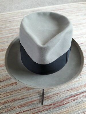 40s 50s Knox 5th Avenue grey fedora. About 7 1/4.