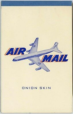 Post - Ww2 Trans Canada Air Lines Tca Stationary Onion Skin Writing Pad 33 Pages