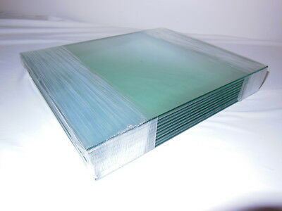 10 Pieces of Clear Tempered Glass with Finished Edges 10 x 12 x 3/16 inches LOT
