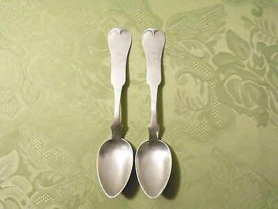 """AMERICAN COIN SILVER ~ (2) PLACE SPOONS at 6.25"""" ~ """"SEHORN"""" TENNESSEE"""
