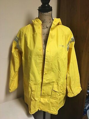 Yellow Raincoat, Great for Camp, Size Large (9-12)