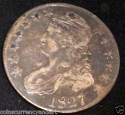 1827 Capped Bust  Half Dollar  USA