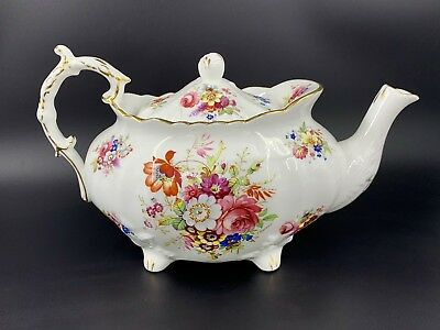 Hammersley Minuet Teapot Large 6 cups Rare Bone China England