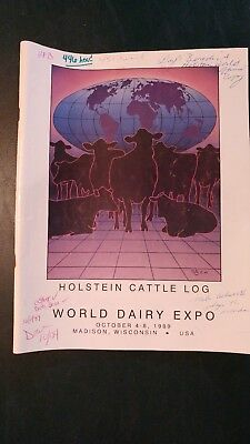 1989 World Dairy Expo Holstein Dairy Cattle Show Ring Souvenir Catalog  Madison