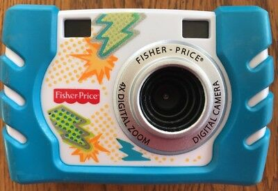 Digital Camera 2010 Fisher Price Kids Toy 4X Zoom Blue Lightening