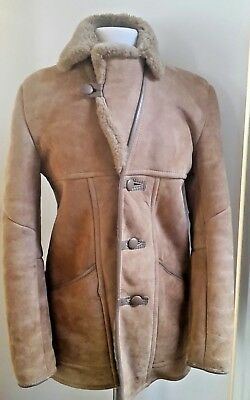 "Vtg 70's shearling coat top condition, S-M, 36"" 92cm"