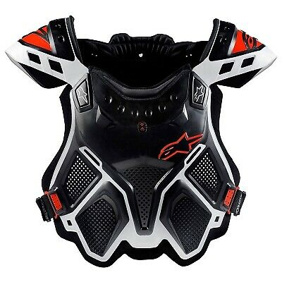 Alpinestars A-10 MX Full Chest Protector White / Red / Black - X-Small / Small