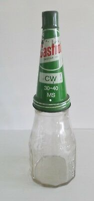 Castrol Wakefield Pint bottle & Castrol Tin Top with Metal Dust Cap