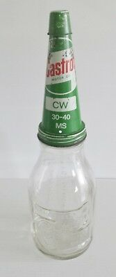 Castrol Wakefield Quart bottle & Castrol Tin Top with Metal Dust Cap