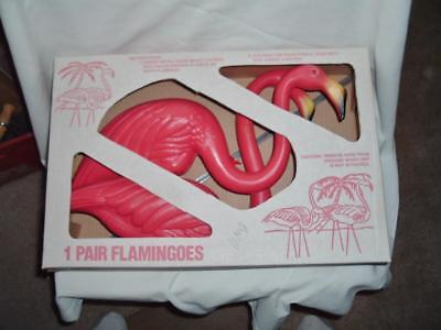 Vintage Pair Don Featherstone Flamingoes New Old Stock 1996 # 6236 2 Sets Avail