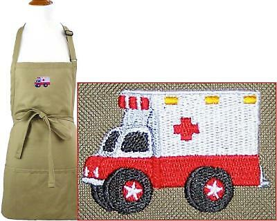 Ambulance Apron Youth & Adult Size Paramedic First Responder Smock + Name NWT