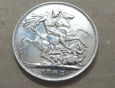 UK 1893 Valed Queen Victoria Crown 5 Shillings