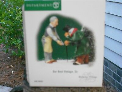DEPT 56 DICKENS' VILLAGE Accessory OUR BEST VINTAGE, SIR NIB