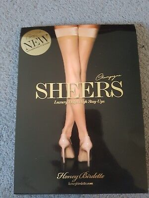 honey birdette stay up stockings natural size L