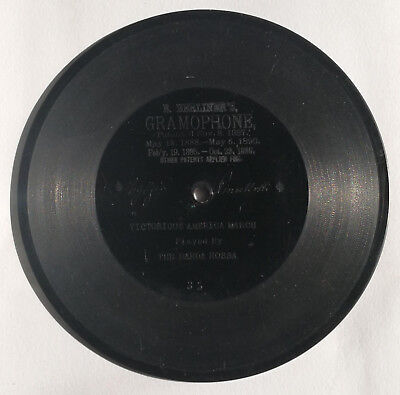 RARE EMILE BERLINER GRAMOPHONE DISC C1900. Scarcer than any Edison Cylinder!