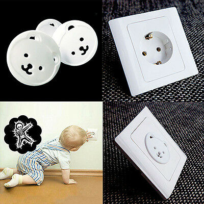 BL_ 20x Safety Electric Outlet Plug Child Proof Shock Guard Protector Cover Popu