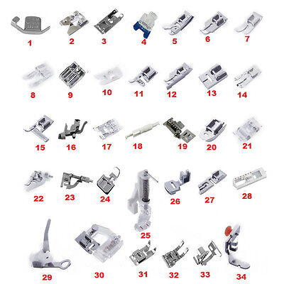 BL_ Sewing Machine Presser Foot Feet Kit Set For Janome Brother Singer Novelty