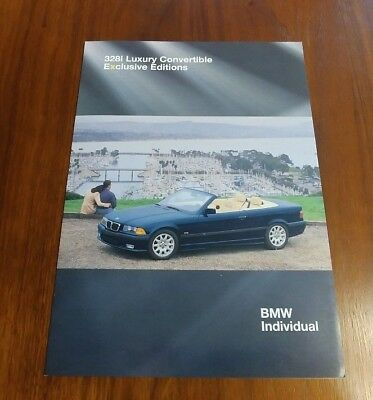 BMW 3 SERIES CONVERTIBLE E36 1999 328i LUXURY EXCLUSIVE EDITIONS INDIVIDUAL