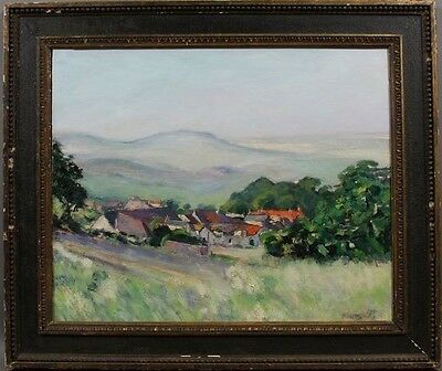 Late 19th Century, French School, Country Village, O/P, Signed Pierre Jamet