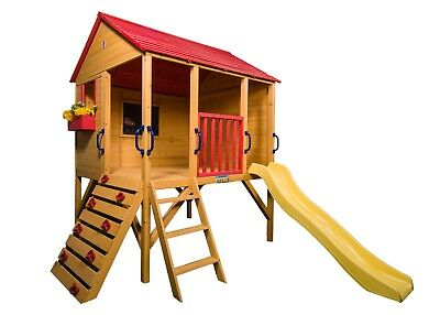 Wooden Timber Fort Oscar Cubby House Outdoor Children