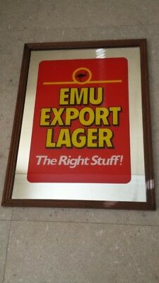 "Emu Export Lager - ""The Right Stuff"" -  Bar Mirror"