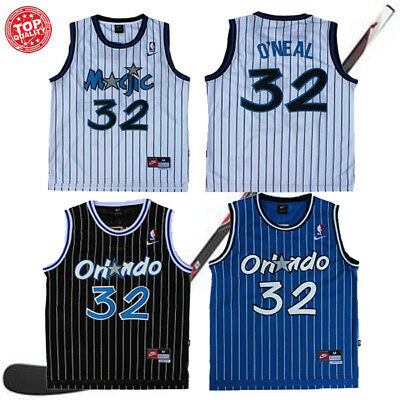 Shaquille O Neal Shaq Orlando Magic Blue Black White  32 Basketball Jersey 7203cf86e