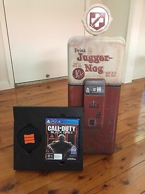 Call of Duty Black Ops 3 Juggernog Mini Fridge + Coasters + Game AS NEW UNUSED!