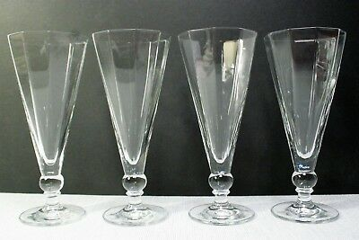 FOUR 10 SIDED  (Decagon) BALL STEM 12 OUNCE  DRINKING  GLASSES
