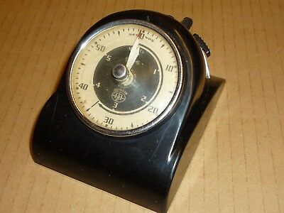 Vintage Smiths Johnson Electric timer black Bakelite Collectable Time Clock