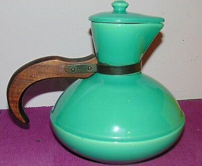 GREAT CATALINA CALIFORNIA CARAFE   green/turquoise color  with lid  L@@K