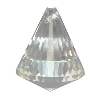 40mm Clear Crystal Glass Hanging Drop Prisms Part Pendant Decor J3E1
