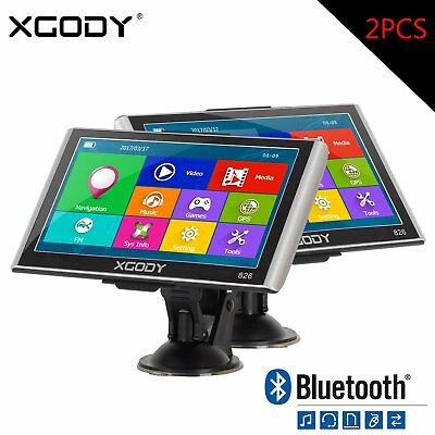 "2PCS XGODY 7"" Truck LKW Car GPS Navigationsgerät Bluetooth Sat Navi 256MB+8GB"