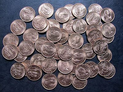 GREAT BRITAIN 1/2 Half Penny COIN 1966 KM896 UNC WHOLESALE LOT 50 pcs ENGLAND UK