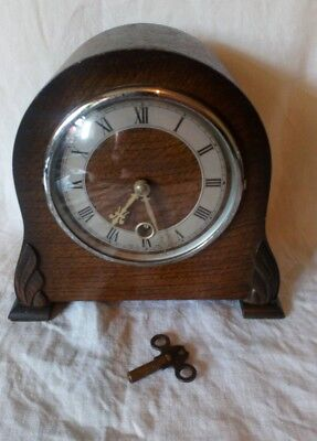 Vintage Smiths Enfield Mantle Clock Needs Attention