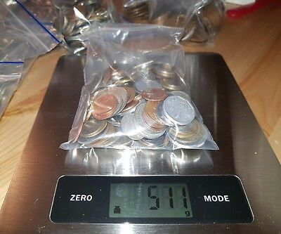 World Coins bulk 1/2 kilo 500g