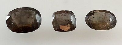 8 Ct Rare Axinite Faceted Gemstones Lot Untreated Earth Mined Pakistan