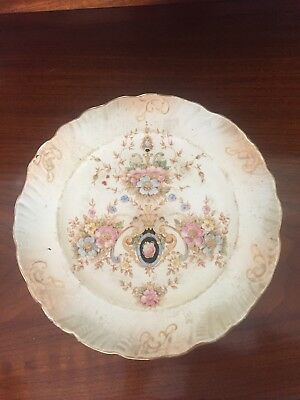 Vintage Crown Devon Fieldings Blush Ivory Cake Stand