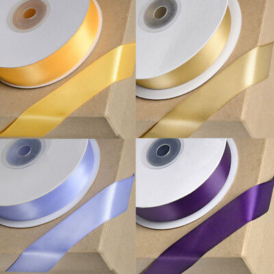 DOUBLE SIDED SATIN RIBBON FULL REELS 3 WIDTH OVER 50 COLOURS 3mm 6mm 10mm CRAFT