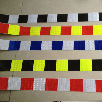 """Square Safety Reflective Self adhesive Warning Tape Sticker 2"""" 5cm Width"""