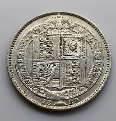 1889 UK One (1) Shilling (Great Britain) aVF - Victoria Jubilee