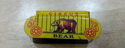 Cracker Jack Tin Lithography Circus Bear wagon Prize Toy