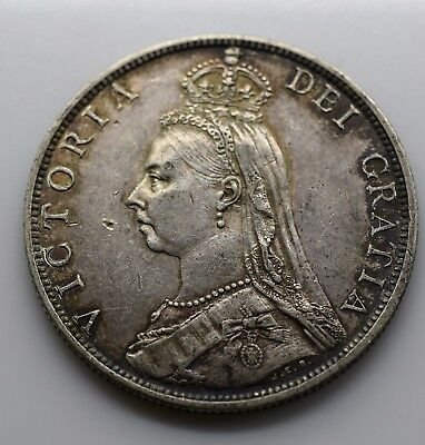 1888 UK One (1) Florin (Great Britain) VF - Victoria Jubilee