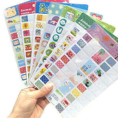 Cartoon Removable Book Notebook Index Name Sticker Label Writable School SupplyC