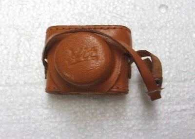 Vtg Subminiature Hit Camera Made in Japan Mini Spy Camera w/ Leather Field Case